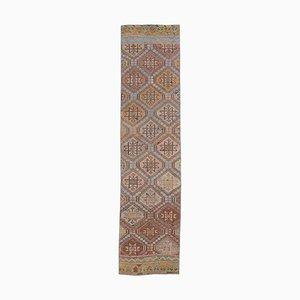 3x10 Vintage Turkish Kilim Oushak Handmade Pale Red Wool Rug