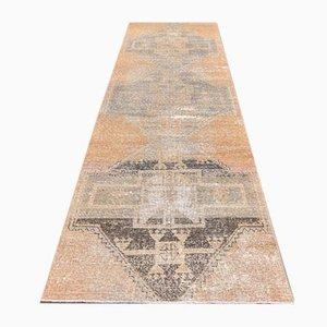 3x10 Handgewobener antiker türkischer Vintage Oushak Läufer Teppich