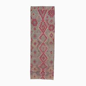 3x8 Vintage Turkish Oushak Handmade Wool Runner Rug