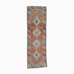 3x9 Vintage Turkish Oushak Handmade Wool Runner Carpet
