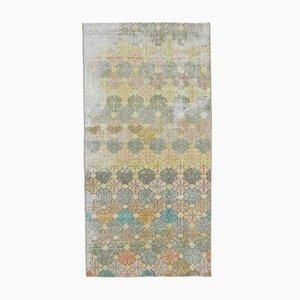 3x6 Vintage Turkish Oushak Handmade Wool Floral Carpet