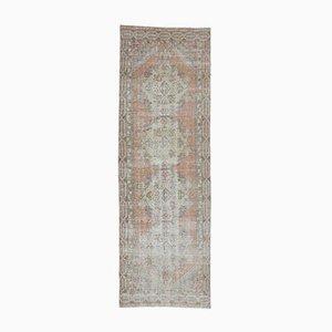 3x9 Vintage Turkish Oushak Handmade Wool Faded Runner Carpet