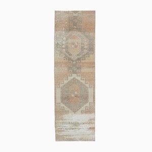 3x10 Türkischer Vintage Oushak Handgewebter Teppich mit Wollbezug