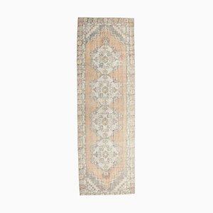 3x9 Vintage Turkish Oushak Low Pile Handmade Wool Runner
