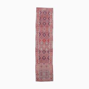 3x11 Vintage Turkish Oushak Hand-Knotted Wool Hallway Rug