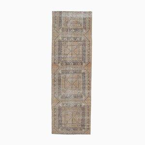 3x9 Vintage Turkish Oushak Handmade Dark Wool Rug