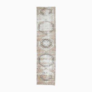 Tappeto Oushak vintage in lana fatta a mano, 3x11 lana, Austria