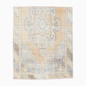 3x4 Antiker Kleiner Türkischer Oushak Teppich aus Wolle