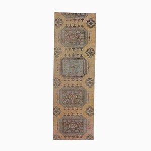 3x9 Vintage Turkish Oushak Handmade Orange Wool Runner Rug