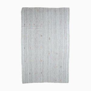 8x12 Vintage Turkish Flatweave Jute Oushak Kilim Carpet