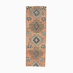 Handgeknüpfter türkischer Vintage Oushak Teppich mit 3x10 Feldern