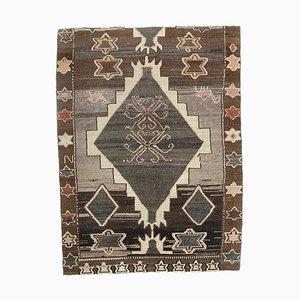 Handgemachter türkischer Vintage 5x7 Oushak Wollteppich in Pastell
