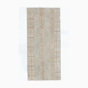 2x5 Vintage Turkish Oushak Handmade Wool Runner Carpet