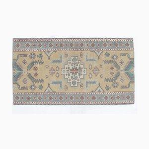 Tappeto Oushak vintage fatto a mano con patchwork di lana 3x5, Turchia