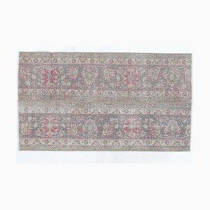 2x4 Vintage Turkish Oushak Handmade Wool Patchwork Rug