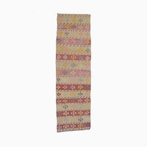 4x12 Vintage Turkish Oushak Handmade Wool Kilim Runner Rug