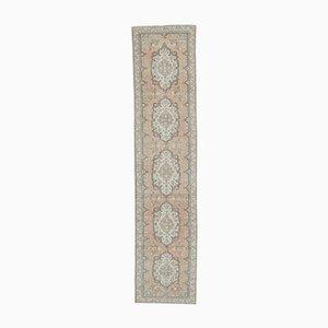 3x13 Türkischer Vintage Oushak Teppich aus Wolle