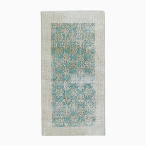 3x5 Antique Turkish Oushak Handmade Wool Faded Carpet