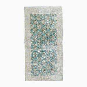 Handgeknüpfter 3x5 Antiker Türkischer Oushak Teppich aus Wolle
