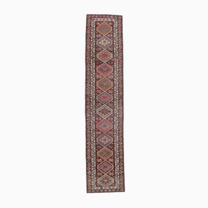 3x13 Vintage Turkish Oushak Hand-Knotted Red Wool Runner