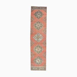 Orientalischer Mid-Century Teppich aus türkisblauem Wollstoff
