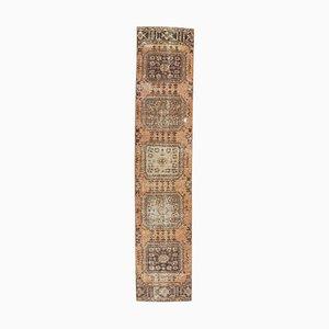 2x11 Vintage Turkish Oushak Handmade Orange Wool Runner Rug