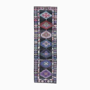 3x9 Vintage Turkish Oushak Nomadic Hand-Knotted Wool Runner