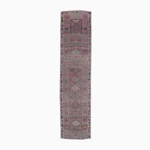 3x12 Türkischer Vintage Oushak Hand-Knotted Berry Wool Runner