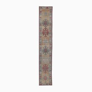 3x15 Vintage Turkish Oushak Long Hand-Knotted Runner in Wool