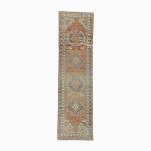 3x12 Vintage Turkish Oushak Handmade Wool Rug in Orange