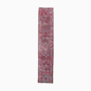 Türkinierter 3x12 Vintage Oushak Purpur Wolle Läufer