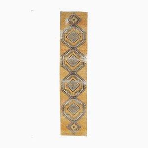 3x13 Türkischer Vintage Oushak Wollteppich in Mandarine