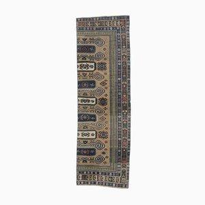 3x9 Türkischer Vintage Oushak Handgemachter Historischer Teppich aus Wolle