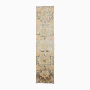 3x12 Antique Turkish Oushak Handmade Wool Faded Runner Rug