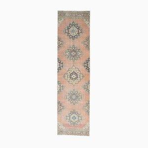3x12 Vintage Turkish Oushak Handmade Patel Pink Wool Runner