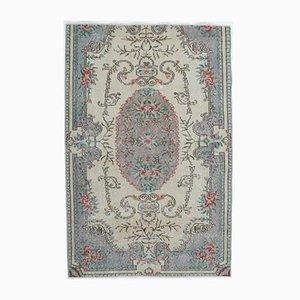 Handgearbeiteter Mid-East Oushak Vintage Handgemacht Religiöser Mid-Century Relikt Teppich aus Wolle