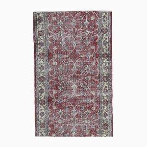 3x5 Vintage Turkish Oushak Handmade Wool Floral Carpet
