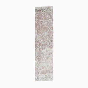 3x11 Vintage Turkish Oushak Handmade Wool Floral Runner Rug