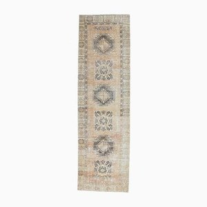 3x11 Antique Turkish Oushak Handmade Wool Faded Rug