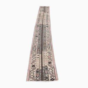 2x13 Vintage Turkish Oushak Narrow Runner in Handmade Wool