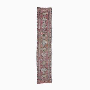 Tappeto Oushak vintage in lana rosa, Turchia