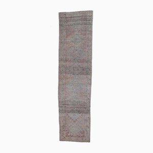 Handgeknüpfter türkischer Oushak 3x10 Läufer in lilaner Wolle