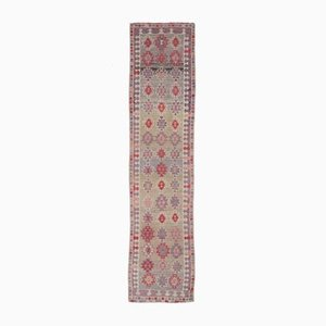 3x11 Vintage Turkish Oushak Hand-Knotted Runner in Light Purple