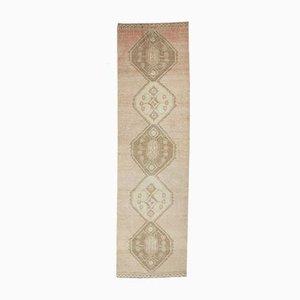 3x12 Türkischer Vintage Oushak Handgeknüpfter Teppich aus Neutraler Wolle