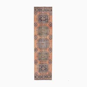 3x11 Vintage Turkish Oushak Handmade Orange Wool Runner Rug