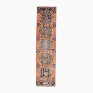 3x12 Vintage Turkish Oushak Handmade Burnt Orange Wool Runner