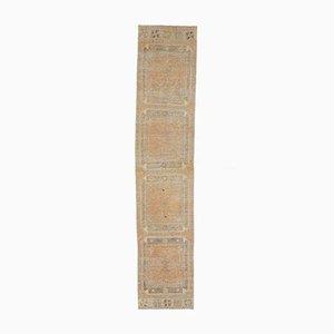 3x12 Antiker Türkisch Oushak Handgewebter Neutraler Läufer aus Wolle