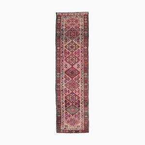 Tappeto Oushak vintage in lana intrecciata a mano 3x10, Turchia