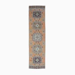 Türkischer Vintage Oushak Vintage 3x11 Läufer Teppich in Orange