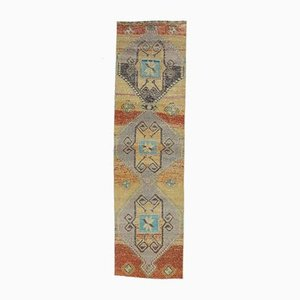 3x11 Vintage Turkish Oushak Hand Woven Primitive Runner in Wool